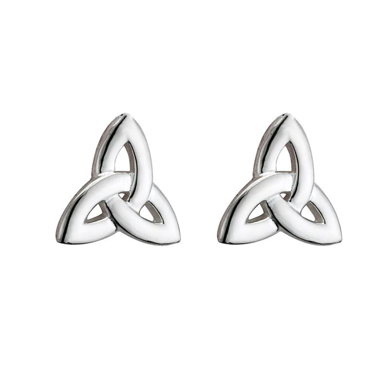 6036c4d22 Solvar Sterling Silver Trinity Knot Earrings s33098-Skellig Gift Store