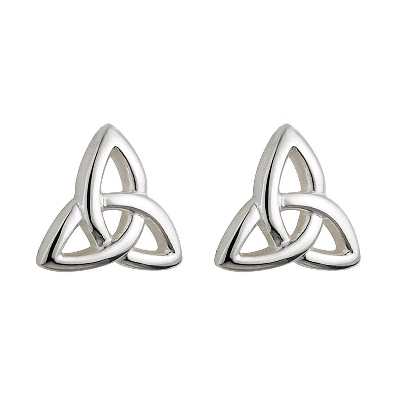 42187ce25 Solvar Sterling Silver Kids Trinity Earrings s3195-Skellig Gift Store