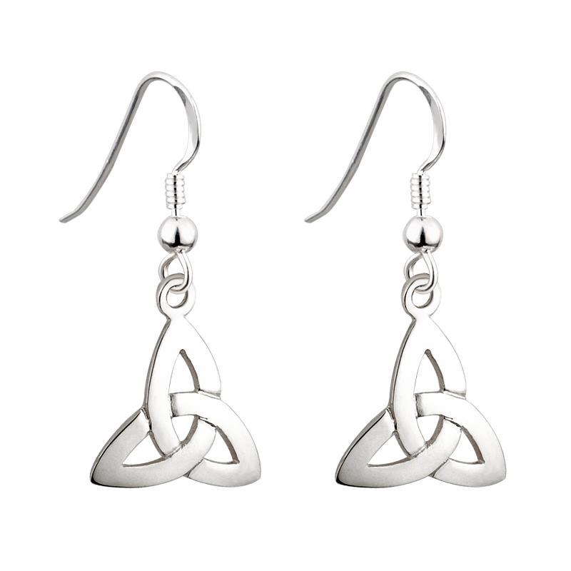 91dc2d419 Solvar Sterling Silver Trinity Drop Earrings s3645-Skellig Gift Store