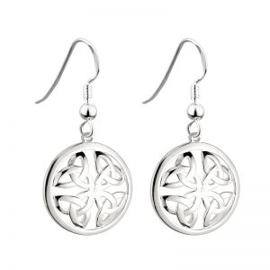 Solvar Silver Drop Trinity Earrings s33390