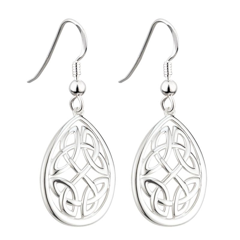 e837c645d Solvar Oval Dangle Trinity Earrings s33392-Skellig Gift Store