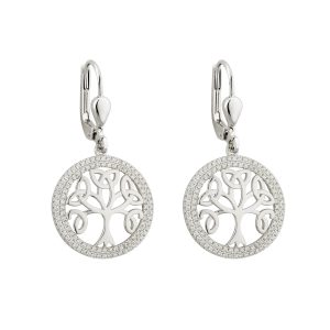 Solvar Celtic Tree of Life Earrings s33697