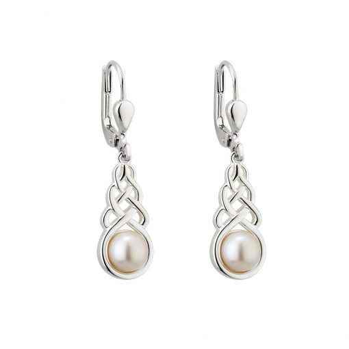 d7af56294 Solvar Pearl Trinity Dangle Earrings s33918-Skellig Gift Store