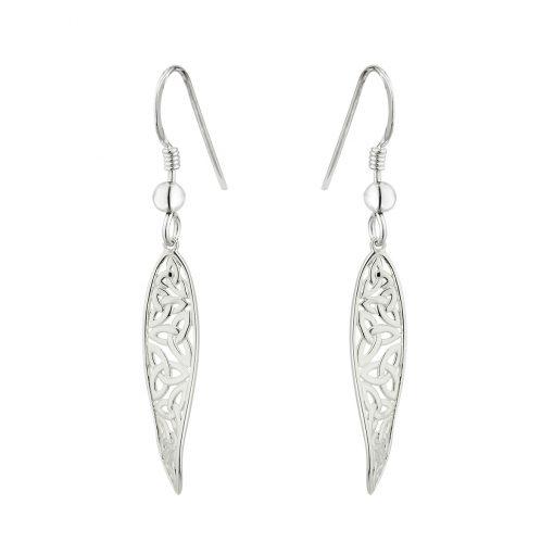 0663f4428 Solvar Sterling Silver Trinity Drop Earrings s33919-Skellig Gift Store