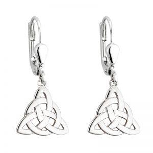 Solvar Silver Trinity Drop Earrings s3694