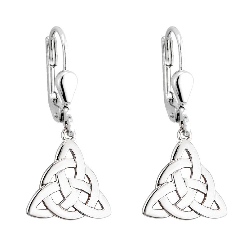 aa89b2fc4 Solvar Silver Trinity Drop Earrings s3694-Skellig Gift Store