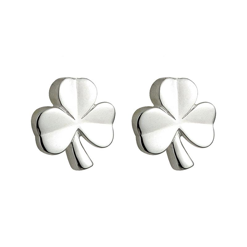 d6a7b3fed Solvar Silver Kids Shamrock Earrings s33197-Skellig Gift Store