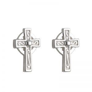 Solvar Celtic Cross Stud Earrings s33387