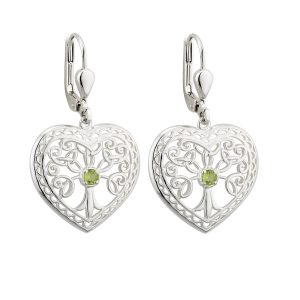 Solvar Trinity Tree of Life Earrings s33694