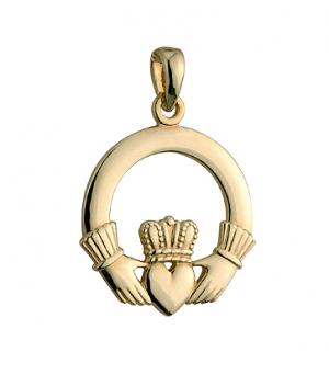 Solvar 14k Gold Medium Claddagh Charm S8290