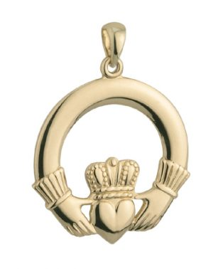Solvar 14k Large Gold Claddagh Charm