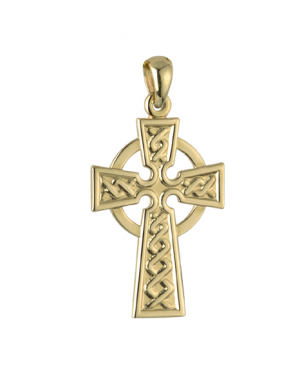 Solvar 14k Celtic Cross Charm s8308