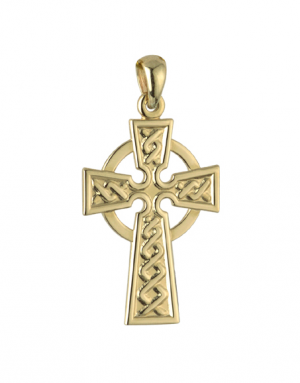 Solvar 9k Celtic Cross Charm s8310