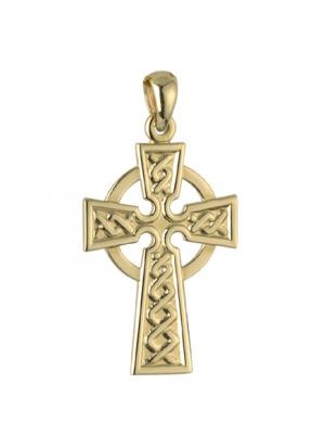 Solvar 14k Double Sided Large Celtic Cross