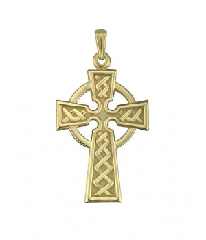 Solvar 10k Gold Celtic Cross Charm