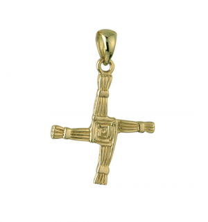 Large 14k Gold St Brigid's Cross Charm