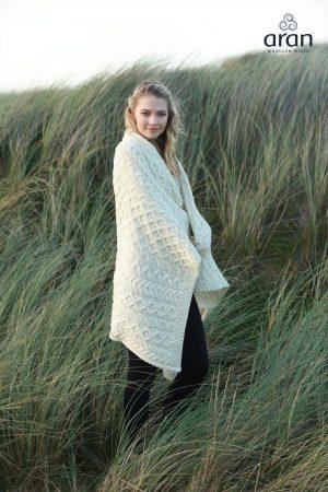 Super Soft Aran Merino Wool Blanket
