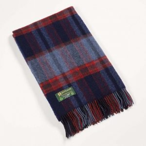John Hanly Blue Wool Blanket