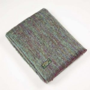 John Hanly Green Mohair Blanket