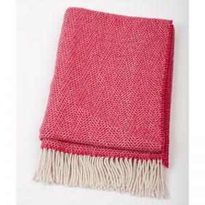 John Hanly Red Cashmere Blanket