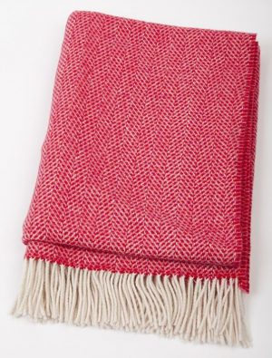 John Hanly Red Cashmere Blanket
