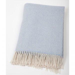 John Hanly Light Blue Cashmere Blanket