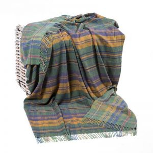 John Hanly Green Mustard Blanket