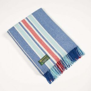 John Hanly Blue Lambswool Blanket
