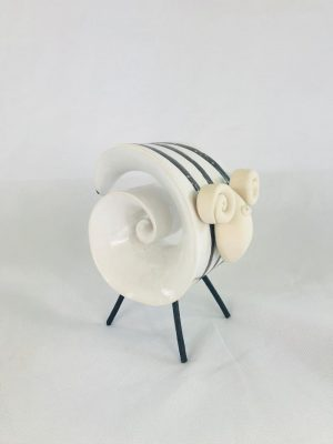 Large Pottery Irish Sheep Ornament