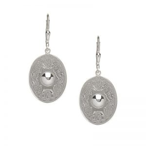 Boru Oval Plain Celtic Warrior Earrings