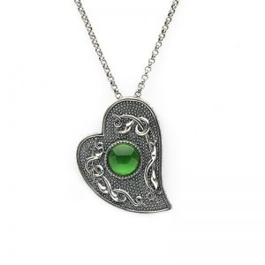 Boru Wood Quay Green Heart Pendant