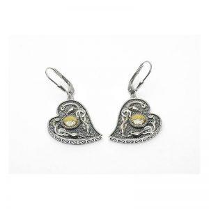 Boru Wood Quay Heart Earrings