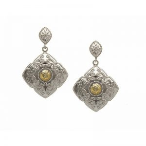 Boru Classic Celtic Warrior Earrings with 18K Gold Bead