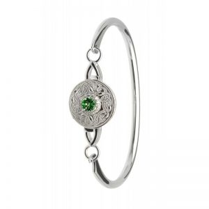 Boru Green Celtic Warrior Bangle