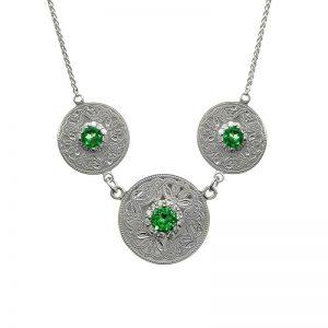 Boru Triple Green Celtic Warrior Pendant