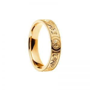 Ladies Celtic Warrior Band 14k Gold