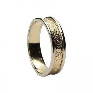 Ladies Warrior Shield 10k Gold Band