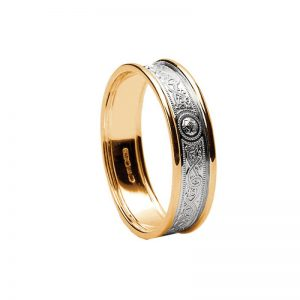 Ladies Celtic Warrior 14k Gold Band