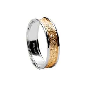 Ladies Celtic Warrior Wedding Band