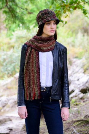 Mucros Rust Orange Skellig Scarf
