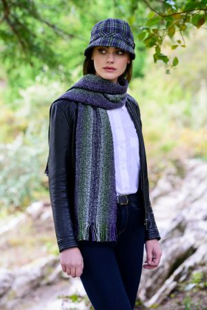 Mucros Green Purple Skellig Scarf