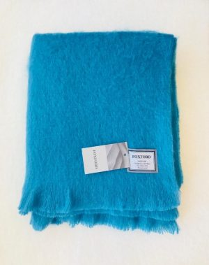 Foxford Peacock Mohair Blanket Throw