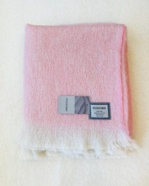 Foxford Pink Mohair Blanket Throw