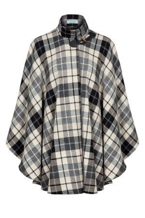 Jimmy Hourihan Cape Black & White Plaid