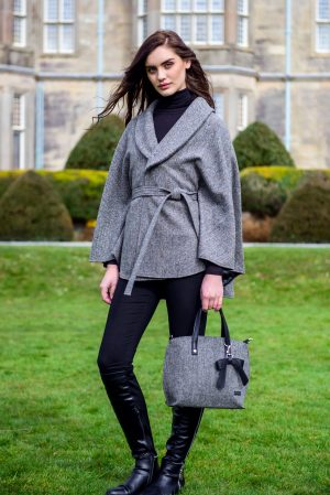Grey Mucros Irish Tweed Killarney Cape