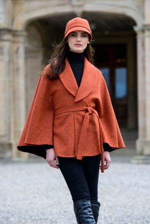 Orange Mucros Irish Tweed Killarney Cape