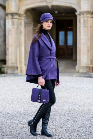 Purple Mucros Irish Tweed Killarney Cape