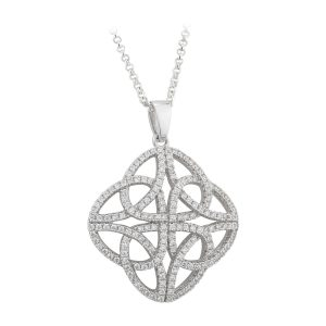 Celtic Infinity trinity Sterling Silver Pendant Necklace