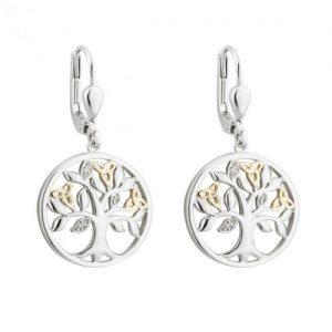 Diamond Tree Of Life Earrings
