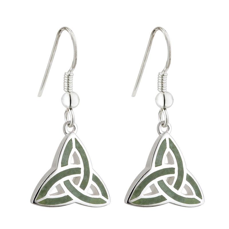 1a7bac33e Solvar Trinity Connemara Marble Earrings s33301 - Skellig Gift Store